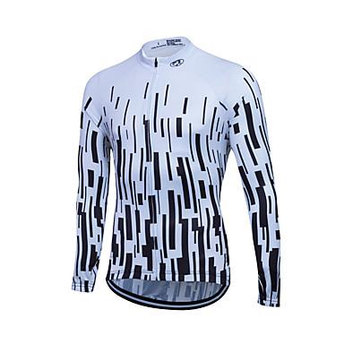Fastcute Heren / Dames Lange mouw Wielrenshirt Fietsen Shirt, Sneldrogend, Ademend, Zweetafvoerend Coolmax®