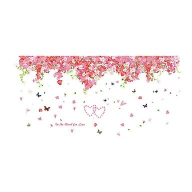 Landschaft Romantik Blumen Wand-Sticker Flugzeug-Wand Sticker Dekorative Wand Sticker Sticker zum Maßnehmen Haus Dekoration Wandtattoo