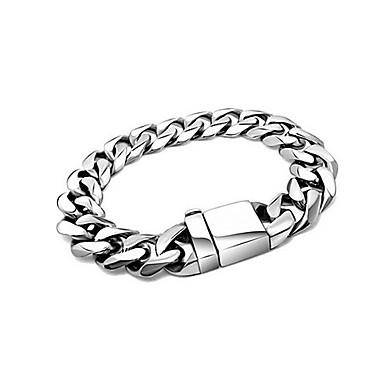 Heren Dames Armbanden met ketting en sluiting Gepersonaliseerde Punk Modieus Titanium Staal Kruisvorm Sieraden Sieraden Voor Dagelijks
