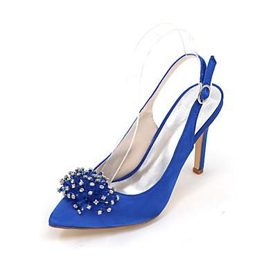 Perle Soirée Evénement Eté Printemps Mariage Champagne Ivoire Aiguille Chaussures Soie amp; Femme à Talon Chaussures 05273818 Talons Bleu w4qzc6a