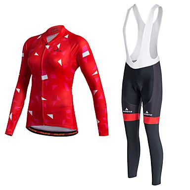 Miloto Wielrenshirt met strakke wielrenbroek Dames Unisex Lange mouw Fietsen Trainingspak Shirt Fietsen Tights/Lange Broek