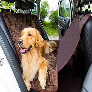 Hond Hoes Voor Autostoel Huisdieren Matten & Pads Effen waterdicht Vouwbaar Zwart Bruin Voor huisdieren