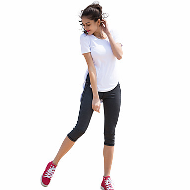 CONNY Dame Crew-hals 1 stk Tights til jogging / Treningstights - Svart, Himmelblå sport Shorts / 3/4 Tights / Leggings Yoga & Danse Sko, Trening, Treningssenter Sportsklær Fort Tørring Elastisk