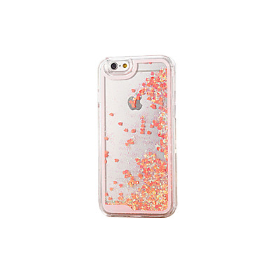 Case For Apple iPhone X iPhone 8 iPhone 8 Plus iPhone 5 Case Flowing Liquid Transparent Back Cover Glitter Shine Hard Silicone for iPhone