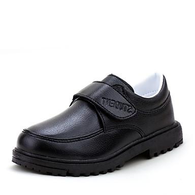 Fladsko-Nappa Leather-Komfort-Drenge-Sort-Fritid-Flad hæl