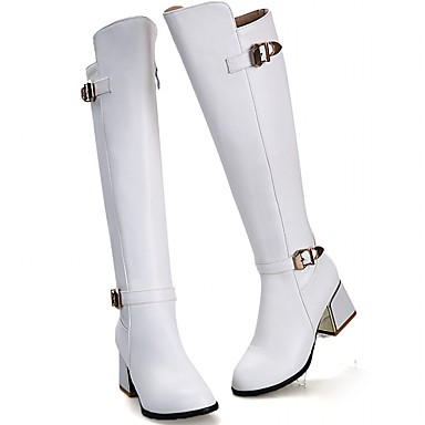 Damen Schuhe Kunststoff / Lackleder / Kunstleder Frühling / Winter Neuheit / Cowboystiefel / Westernstiefel / Springerstiefel High Heels