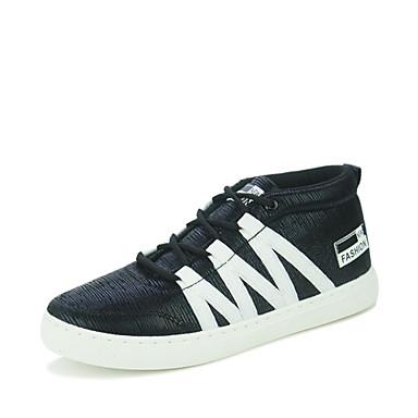 Sneakers-PUHerre-Sort Blå Hvid-Fritid-Flad hæl