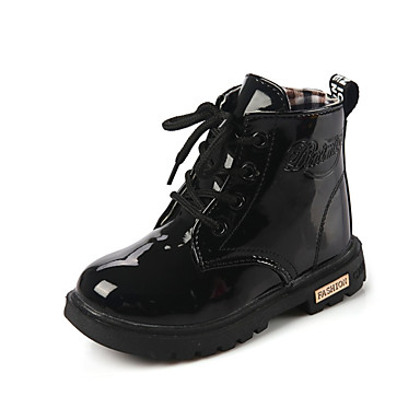 Meisjes Schoenen PU Winter Comfortabel Laarzen Veters voor Geel / Perzik / Roze
