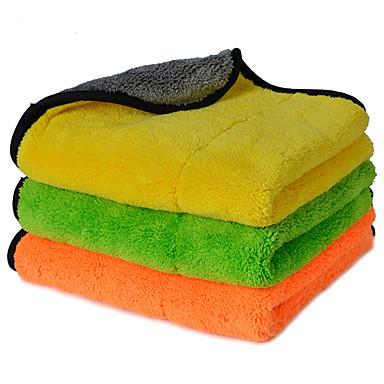 autoyouth Super dicke Plüsch Mikrofaser Auto-Reinigungstücher Autopflege Mikrofaser Wachs Polieren Detaillierung Handtücher 3 Farben