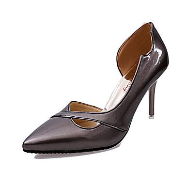 Damen Schuhe PU Herbst Komfort High Heels Stöckelabsatz für Normal Silber Rosa Bronze
