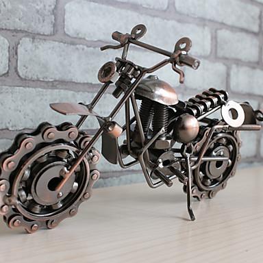 Motocicleta de hierro forjado modelo decoración decoración vintage decoración del hogar accesorios en miniatura estatuilla kawaii