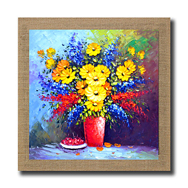 Pintados à mão Abstrato Famoso Paisagem Vida Imóvel Paisagens Abstratas Floral/Botânico Fantasia Quadrada, Modern Realismo Tela de pintura