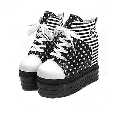 c57089dd840 Γυναικεία Παπούτσια Ύφασμα Άνοιξη / Φθινόπωρο Αθλητικά Παπούτσια Περπάτημα  Πλατφόρμα / Creepers Κορδόνια Μαύρο / Κόκκινο