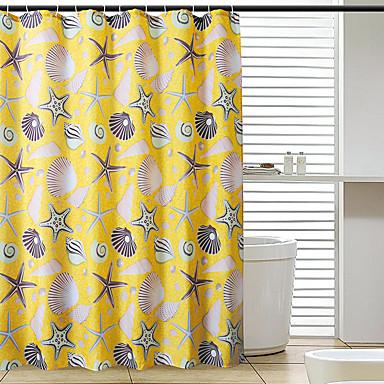1pc Cortina de baño Modern Poliéster Baño