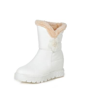 Støvler-PU-Snowboots-Dame-Sort Rød Hvid-Udendørs Formelt Fritid-Flad hæl