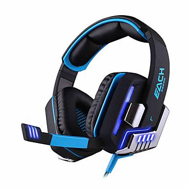 KOTION EACH G8200 Over Oor Hoofdband Bekabeld Hoofdtelefoons Dynamisch Gaming koptelefoon Geluidsisolerende met microfoon Met