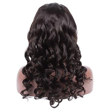 Menneskehår Helblonde Blonde Front Paryk Bølget 130% Massefylde 100 % håndbundet Afro-amerikansk paryk Natural Hairline Kort Medium Lang