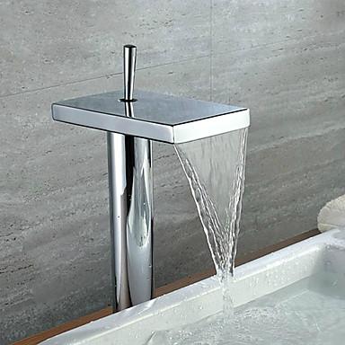 Hedendaagse Bassin Waterherfst with  Keramische ventiel Een Hole Single Handle Een Hole for  Chroom , Wastafel kraan