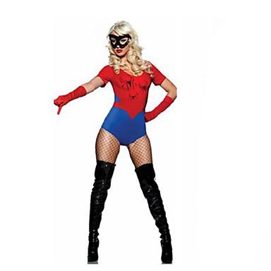 Cosplay Kostumer / Festkostume Super Helte Festival/Højtider Halloween Kostumer Rød / Blå Ensfarvet Mere Tilbehør / Zentai Halloween