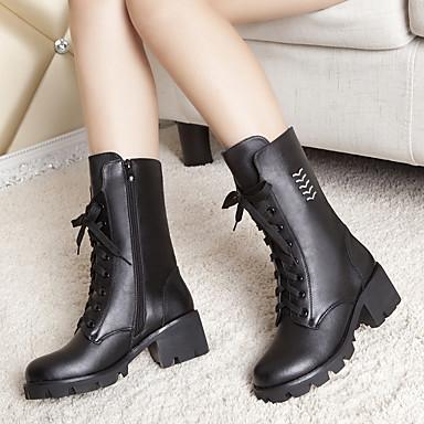 Bottes Block Heel Bottier Femme Talon Automne 05309199 Noir Chaussures Cuir qwgYx0qSA