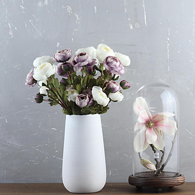 Kunstige blomster 1 Afdeling Moderne Stil Kamelia Bordblomst