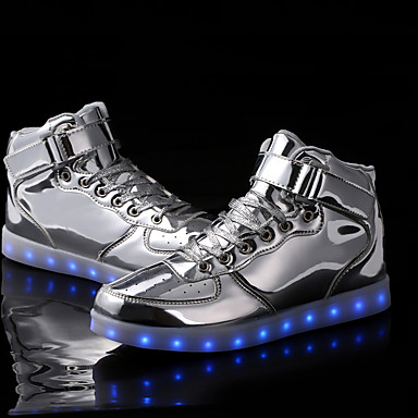 Unisex Shoes Synthetic Spring / Fall Comfort / Light Up Shoes Sneakers Walking Shoes Lace-up for Black / Silver / Golden