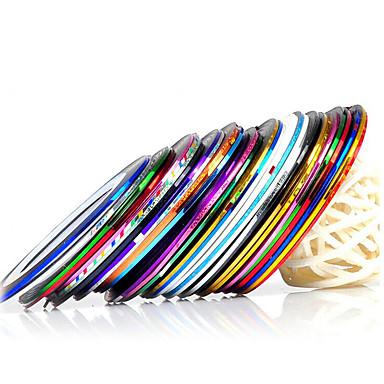 10 pcs 3D Negle Stickers Negle Smykker Negle kunst Manicure Pedicure glitter / Mode Daglig / PVC / Negle smykker / 3D Nail Stickers