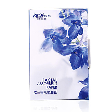 Keqi ® ylang duft olie kontrol olie-absorberende ark papir 80 stykke
