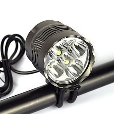 Hoofdlampen Fietsverlichting Koplamp LED 8000 lm 1 Modus Cree XM-L T6 Waterbestendig Hoeklamp Super Light Geschikt voor voertuigen