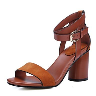 Femme ouvert Plateforme Sandales Marron Gros Chaussures Noir Talon Eté 05296117 Pour Bout Décontracté Cuir rA8rYZ