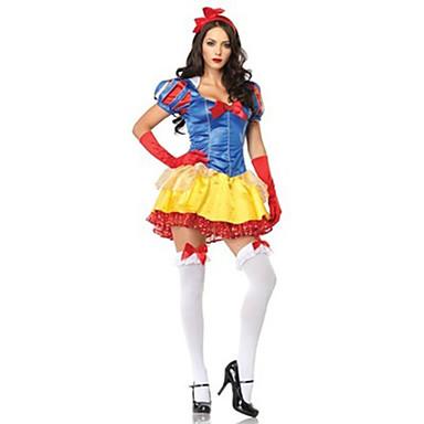 Cosplay Kostumer / Festkostume Prinsesse / Eventyr / Julemands Dragt / Film & TV Kostumer Festival/Højtider Halloween Kostumer Gul / Blå