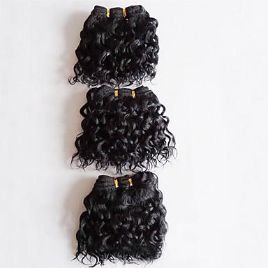 3 paquetes Cabello Brasileño Rizado / Ondulado Grande Cabello Virgen Tejidos Humanos Cabello Cabello humano teje Extensiones de cabello humano