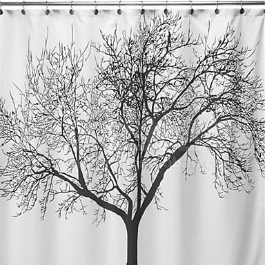 Duschvorhänge Modern Polyester Blumen / Pflanzen Maschinell gefertigt