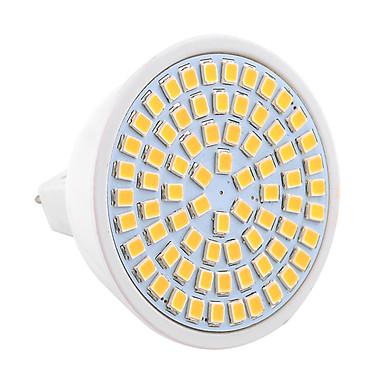 YWXLIGHT® 7W 600-700lm GU5.3(MR16) LED-spotlys MR16 72 LED Perler SMD 2835 Dekorativ Varm hvid Kold hvid 30-09-16V