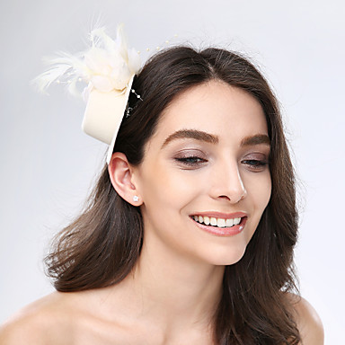 tulle feather fabric fascinators zendspoel klassieke vrouwelijke stijl