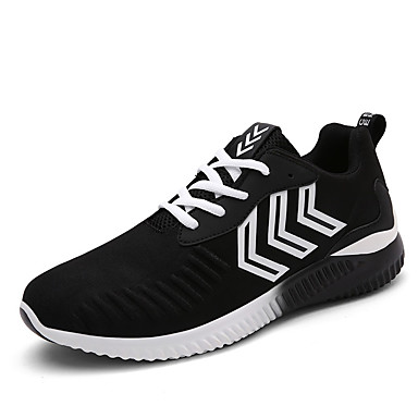 Sneakers-Stof-Komfort-Herre-Sort Blå Grå-Fritid-Flad hæl