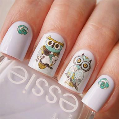 1 pcs Etiqueta engomada de la transferencia arte de uñas Manicura pedicura Encantador Dibujos / Moda Diario