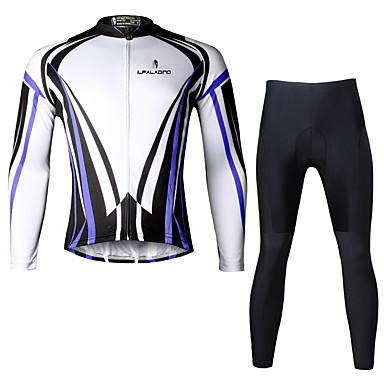 ILPALADINO Herrn Langarm Fahrradtrikots mit Fahrradhosen Fahhrad Kleidungs-Sets, Rasche Trocknung, UV-resistant, Atmungsaktiv,