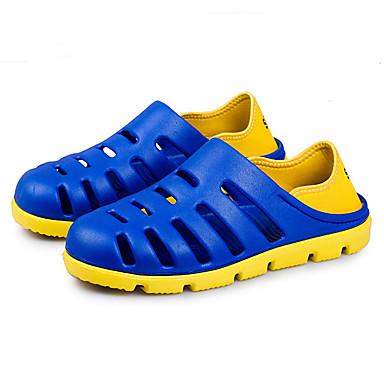 Homens sapatos Látex Verão Sandálias para Casual Preto Cinzento Marron Azul
