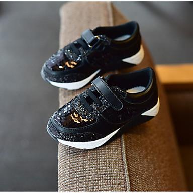 Uniseks Schoenen Kunstleer Lente Herfst Sneakers Platte hak Voor Sportief Causaal Zwart Roze