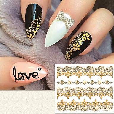 1 Pcs Adesivi 3d Unghie Manicure Manicure Pedicure Di Tendenza Quotidiano - Adesivi Per Unghie 3d #05249628 Crease-Resistenza