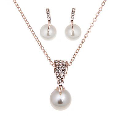 Mujer Conjunto de joyas - Perla Artificial Vintage, Moda Incluir Collar / pendientes Los sistemas nupciales de la joyería Dorado Para Boda Fiesta Diario