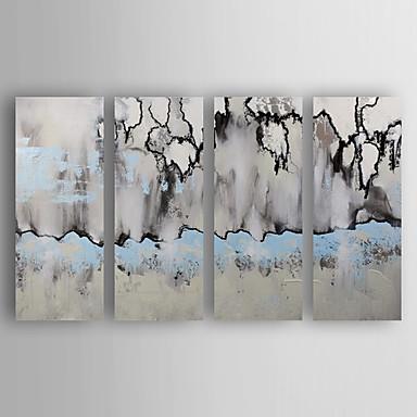 Hang-Ölgemälde Handgemalte - Abstrakt Modern Segeltuch Vier Panele