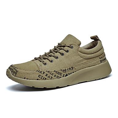 Heren Platte schoenen Lente / Herfst Ronde neus Weefsel Informeel Platte hak Veters / Overige Zwart / Groen / Grijs Others