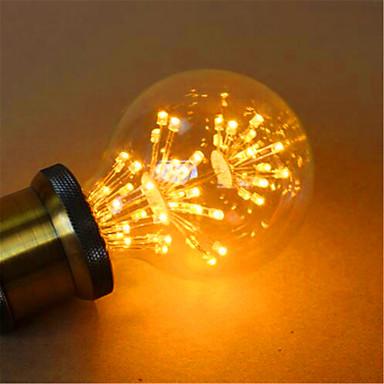 E26/E27 Lâmpada Redonda LED G80 49 leds LED Dip Decorativa Amarelo 800lm 2300K AC 220-240V