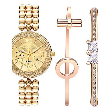 Mujer Reloj Pulsera Reloj de Pulsera Cuarzo Aleación Banda Analógico Brazalete Elegante Dorado - Dorado