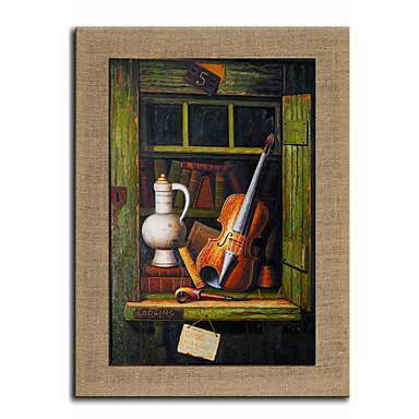 Handgeschilderde Mensen Fantasie Verticaal, Europese Stijl Modern Kangas Hang-geschilderd olieverfschilderij Huisdecoratie Eén paneel