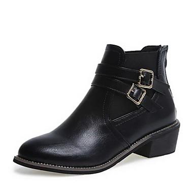 Støvler-PU-Komfort Snowboots-Dame-Sort Brun-Udendørs Kontor Fritid-Tyk hæl