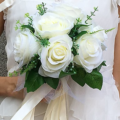 Hochzeitsblumen Sträuße Hochzeit / Party / Abend Satin 22 cm ca.