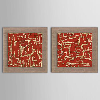 Pintados à mão Abstrato Paisagem Fantasia Quadrada, Modern Realismo Estilo Europeu Tela de pintura Pintura a Óleo Decoração para casa 2